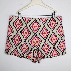 NWT Loft Ann Taylor Aztec Print Riviera Shorts 14